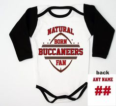 Buccaneers Newborn Fan   Football Baby Clothes   Football Baby Jersey    Buccaneers Custom Bodysuit   5776aac08
