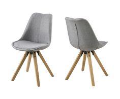 "Sada 2 židlí ""Dima Grey"", 42 x 44 x 85 cm | Westwing Home & Living"