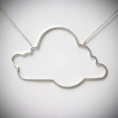 sterling silver cloud necklace by neologybymina