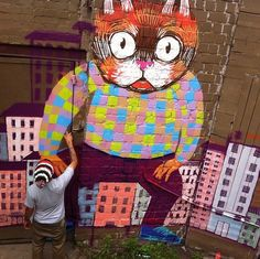 Street Art Thiago Goms at work in Berlin, Germany. world wide... Graffiti art , street art , Urban art Lets just call it Art.. Classic art from the people  for the people... http://stores.ebay.com/urban-art-designs