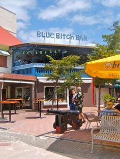 Blue Bitch Bar in Philipsburg, St. Maarten, Caribbean
