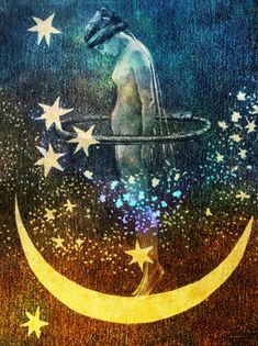 Nott - Goddess of the Night. Themes are learning, knowledge, communication. Symbolized by books, writing utensils, stars