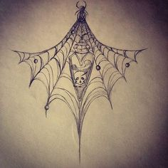 Image result for spider web under bust tattoo