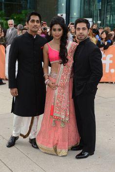 Siddharth & Shriya Saran at the Midnight's Children premiere at TIFF