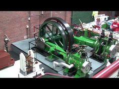 ▶ The Accelerating Robey Cross Compound Steam Engine At Bolton's Steam Museum - YouTube