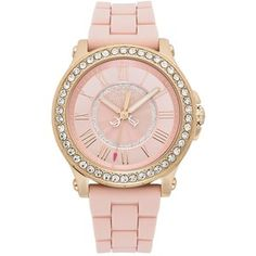 Juicy Couture Watch, Women's Pedigree Dusty Rose Silicone Strap 38mm 1901054