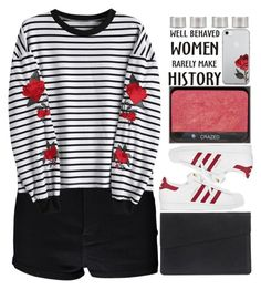 """""""『this deadbeat town is only here to keep us down』"""" by ginga-ninja ❤ liked on Polyvore featuring NARS Cosmetics, Boohoo, adidas and Maison Margiela"""