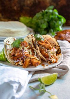 These Honey Lime Chipotle Chicken Tacos are a smash hit every time. Grilled or sautéed, the citrus marinade, warm spices, fresh herbs & honey make it a flavor explosion. With a Ranch Apple Slaw on top these are fantastic tacos.