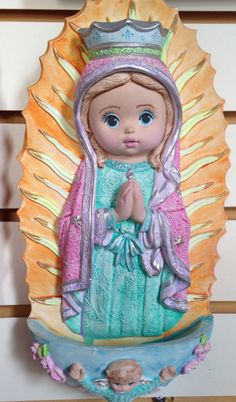 Virgen plis o Guadalupe en yeso
