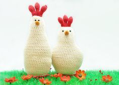 Crochet chicken family - Easter projects on woolen place - Knitting Crochet Amigurumi, Crochet Toys, Free Crochet, Knit Crochet, Crochet Chicken, Easter Crochet Patterns, Easter Projects, Lana, Crochet Projects