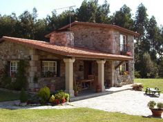 Cabin Homes, Log Homes, Style At Home, Dordogne, Mediterranean Homes, Stone Houses, Facade House, Traditional House, My Dream Home