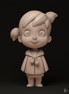 Little Princess (wireframe) - Personal Works - CG Gallery - Computer Graphics Forum 3d Model Character, Character Modeling, Character Concept, Character Art, Concept Art, Zbrush Character, Character Design Animation, Character Design References, 3d Animation
