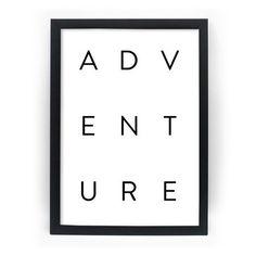 Poster Emoldurado - Adventure P&B - Decohouse