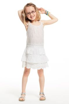 Calypso St. Barth Mommy + Me styles - just in time for Mother's Day! Little Girls' Yereka Dress in White