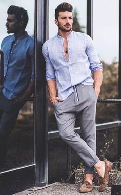 Formal Dresses For Men, Formal Men Outfit, Formal Shirts For Men, Men Formal, Men Party Outfit, Mens Party Wear, Dress Party, Mens Linen Outfits, Stylish Mens Outfits