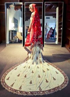 Latest+Designer+Birdal+Lehenga+Designs+2016 #Inspired from the #western culture of Trail gowns, the trail in the #Bridal lehenga is certainly in the new trend in India. Just by adding a trail to the #lehenga, the richness of the #outfit reaches to a whole new level.