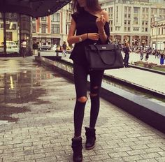 Black Kelly and Isabel marant wedge sneakers with a simple chic outfit
