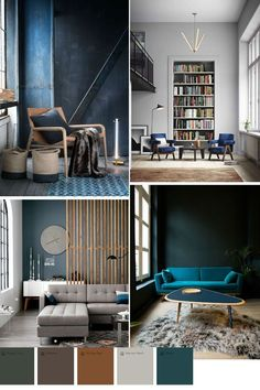 blue color trend in home decor 2016 2017