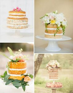 Naked Cakes...pretty, but frosting is the best part!