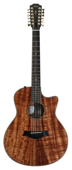 Taylor Koa 12 string with tree of life inlays! 12 strings sound so amazing! 12 String Acoustic Guitar, Best Acoustic Guitar, Cool Guitar, Acoustic Guitars, Fender Vintage, Vintage Guitars, Guild Guitars, Taylor Guitars, Cool Electric Guitars