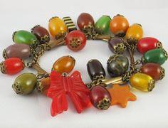 Vintage Bakelite Charm Bracelet