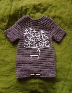 Viking Baby Romper Nalbinding Knitted technic par CroneYhrmCrafts