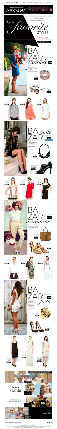 Coquelux   newsletter   fashion email   fashion design   email   email marketing   email inspiration   e-mail