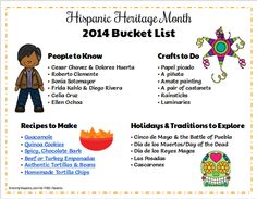 A list of people, crafts, recipes, and traditions to explore in honor of Hispanic Heritage Month. Find more learning activities for kids on Adventures in Learning. Diversity In The Classroom, Spanish Classroom, Teaching Spanish, Roberto Clemente, Spanish Activities, Kids Learning Activities, Frida Kahlo Diego Rivera, Spanish Heritage, Learn Spanish Online
