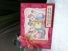 Card using Art Impression Girlfriend stamps.