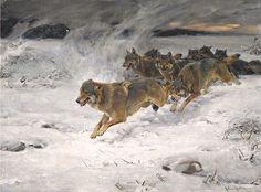 Wierusz-Kowalski, Alfred von (b,1849)- Wolf Pack