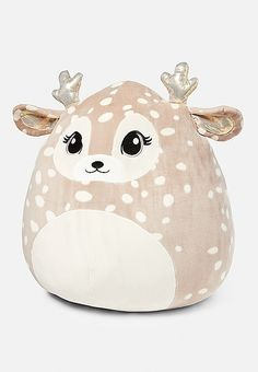 Willow the Deer Squishmallow Tween Girls, Toys For Girls, Cute Stuffed Animals, Cute Animals, Cute Pillows, Throw Pillows, Little Pony, Little Girls, Justice Toys