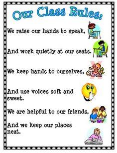for-my-classroom Behavior Management, Classroom Management, Classroom Rules Poster, Class Rules, Classroom Language, Kids Writing, School Counselor, Kindergarten Classroom, Teaching Tips