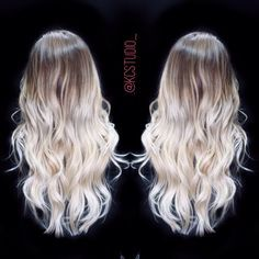 Icy blonde ombre hair color