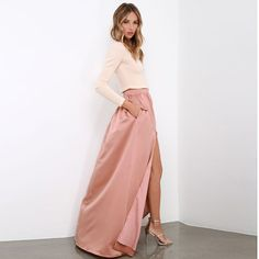 Find More Skirts Information about Custom Made Taffeta Long Skirts With Pockets Sexy High Side Split Floor Length Skirt For Women New Arrival Skirt 2016 ,High Quality skirt women,China taffeta panel Suppliers, Cheap taffeta dress from Yast Lady Skirt on Aliexpress.com