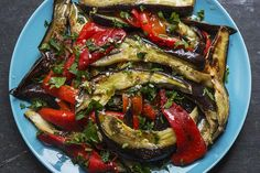 Grillet paprika- og auberginsalat / Roasted peppers and aubergine salad – Aichas Mat