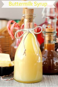 Buttermilk Syrup--creamy with the just the right amount sweet--so good! Use on pancakes, waffles, French toast and over fresh fruit and berries.