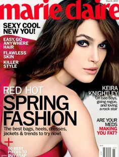 """Keira Knightly photographed by Nathaniel Goldberg for the cover of """"Marie Claire"""" US magazine march 2013......"""