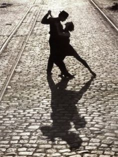 Dancing Salsa - love the shadow dancing