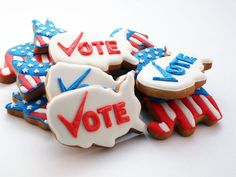 Decorated Cookies Decision 2012 Democrat I wish the election would taste as good as these Blue Cookies, Honey Cookies, Iced Cookies, Cut Out Cookies, Sugar Cookies, Frosted Cookies, Election Night Party, Election Day, Presidential Election
