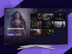 Marble Interactive TV App - Case Study by Afrian Hanafi - Dribbble Best Ui Design, App Ui Design, User Interface Design, Web Movie, Case Study Design, Ui Animation, Tv App, Ui Design Inspiration, Ui Web
