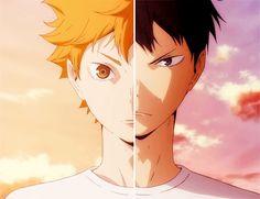 Hinata Shoyo y Kageyama Tobio ~ Haikyuu!! (Anime, Deportes, Shonen, Volleyball)