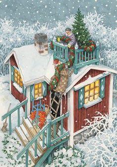 Illustration art funny inge look 70 ideas Noel Christmas, Vintage Christmas, Old Lady Humor, Whimsical Art, Old Women, Art Pictures, Illustrators, Folk Art, Fantasy Art