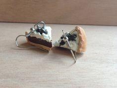 French Silk Polymer Clay Pie Earrings / Pendants / by GoodieStore, $5.49