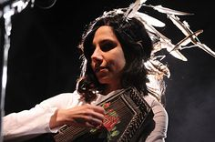 PJ Harvey.  Her most recent album, 'Let England Shake' has been played many many times in my household.  It's a beautiful record.  PJ is another favorite artist of mine and she ranks in the realms of Patti Smith, and that's saying a lot.