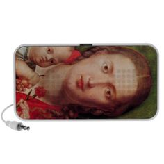 Albrecht Durer - Mary with the carnation Portable Speakers