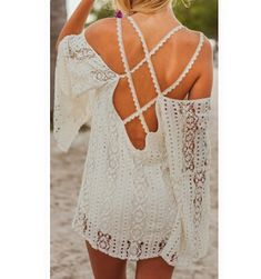 Fashion lace halter dress #AD33106