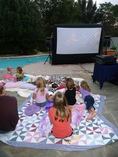 Outdoor movie premier