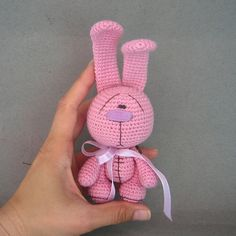 Crochet amigurumi Candy Bunny - pattern PDF file, with pictures for making a toy !!! NOT FINISHED TOY!!!!!   !ENGLISH LANGUAGE!  Level: medium.  This pattern includes: step by step instruction, detailed photo tutorial. Instruction are written in English language.  Using this pattern you could create cute amigurumi bunny toy. You can use any yarn and color you like, buttons and ribbon...  Feel free to sell your finished items.  All you need is free time and a little bit patience and you will…