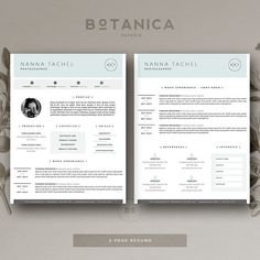 Feminine Resume Template  Cover Letter For Ms Word And Pages