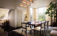Modern Dining Room by Michael S. Smith Inc. in Los Angeles, California